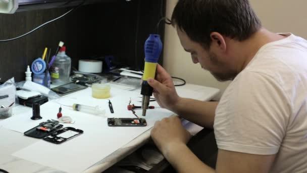 Oprava mobilního telefonu s vyhříváním detaily