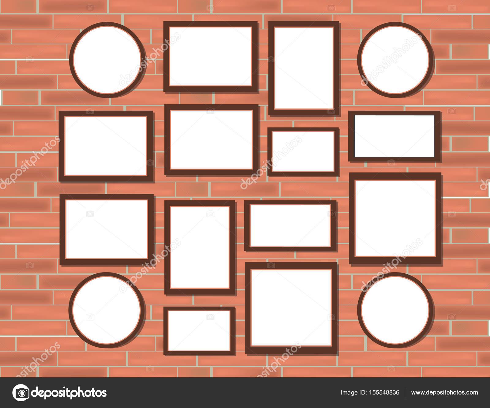 Maqueta de marco realista foto tamaños fotos para Set de Marcos ...