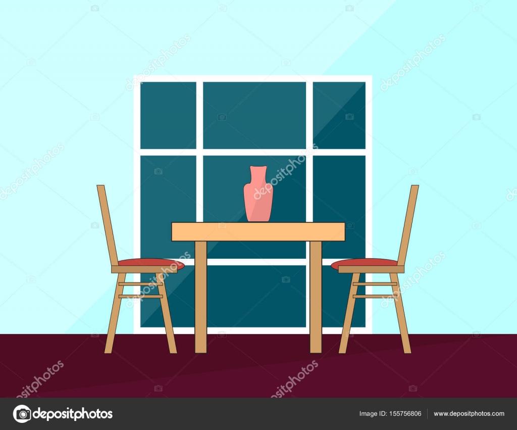 Eettafel Twee Personen.Romantisch Diner Eettafel En Stoelen Voor Twee Personen In De Flat