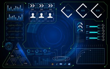 abstract ui futuristic screen
