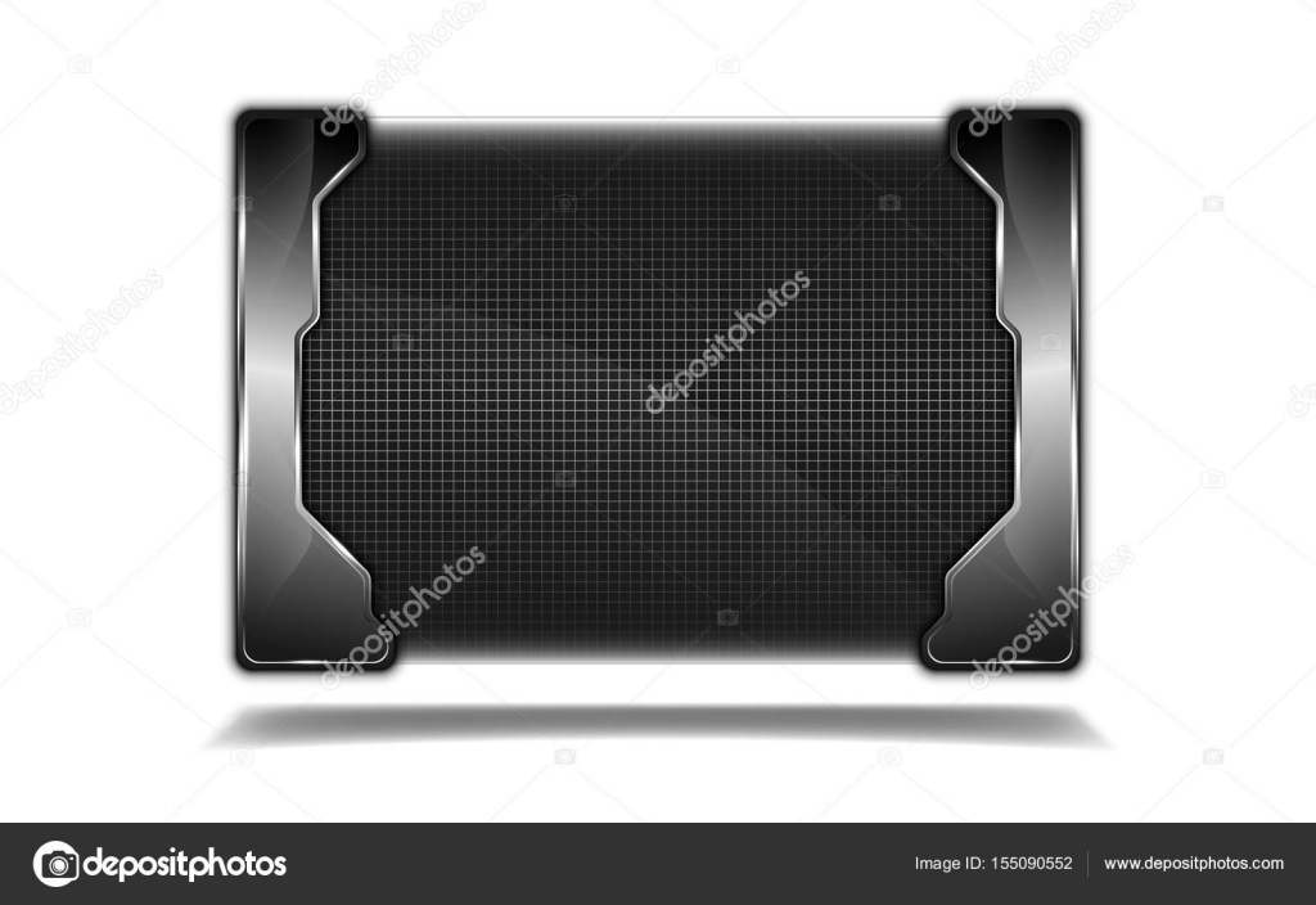 marco de rejilla metálica de placa de acero — Archivo Imágenes ...