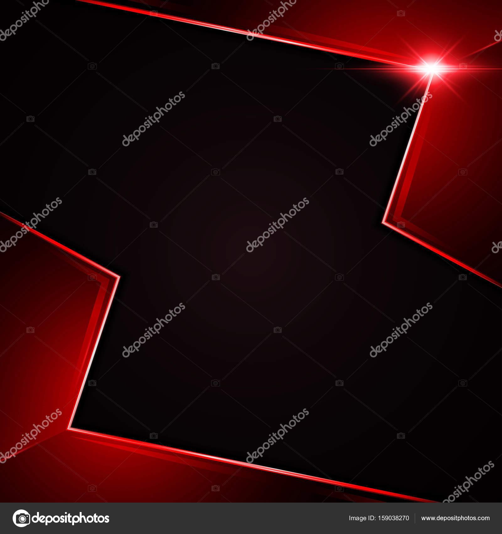 rectángulo rojo metálico abstracto marco diseño plantilla fondo ...