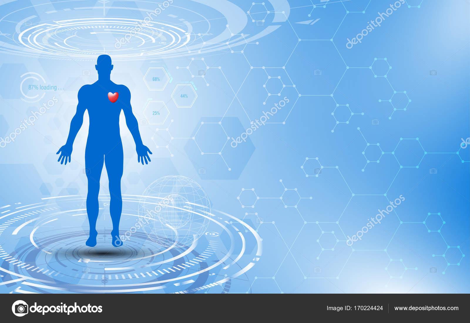 Fondo de concepto de tecnología de salud innovación científica ...