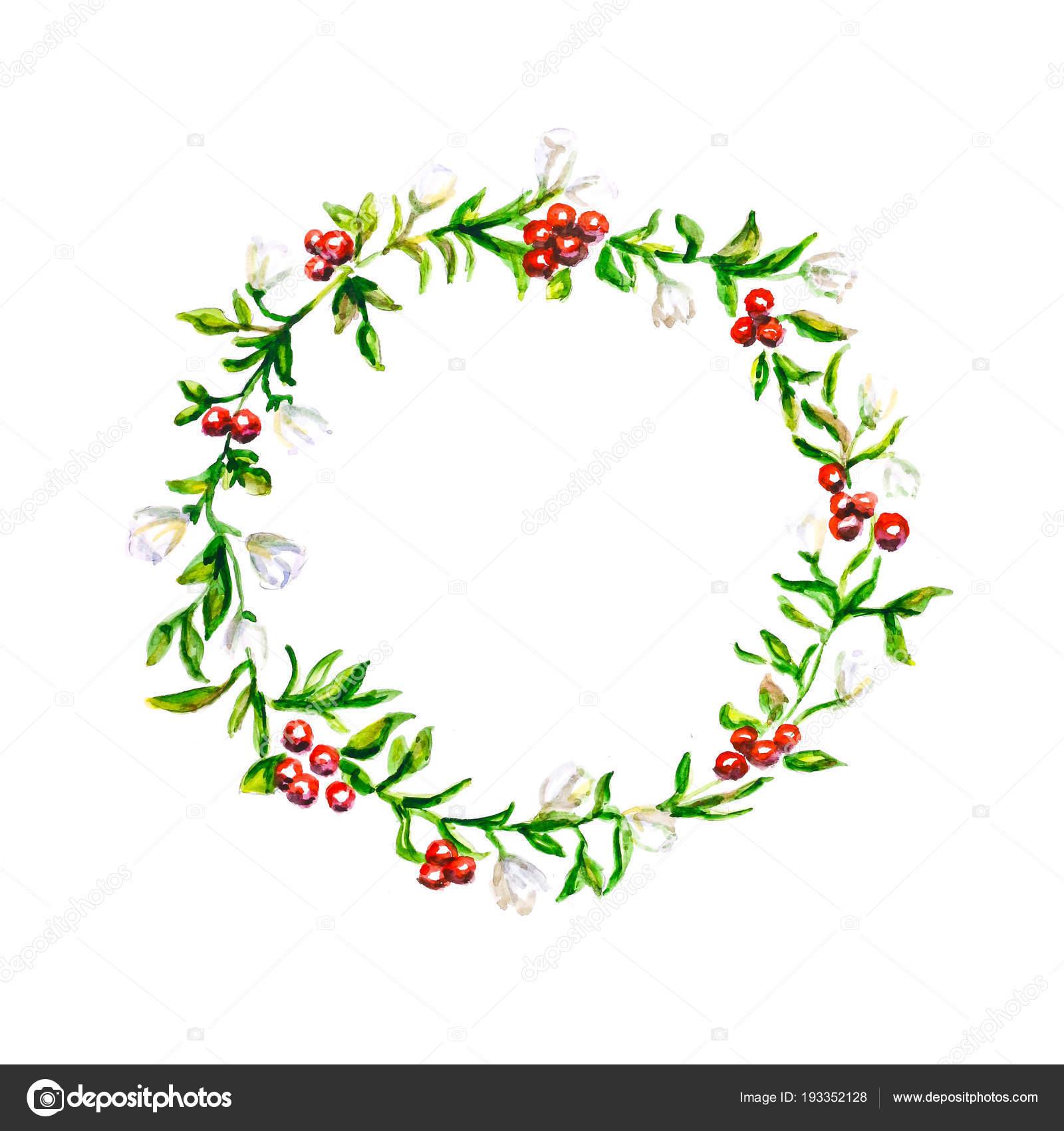 Motif Partir Plantes Une Couronne Fleurs Plantes Dessinés Main