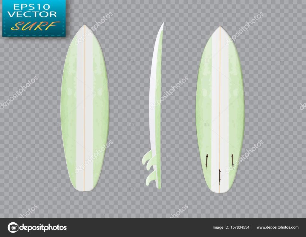 白いベクトル サーフィン ボード テンプレート ショート ボード