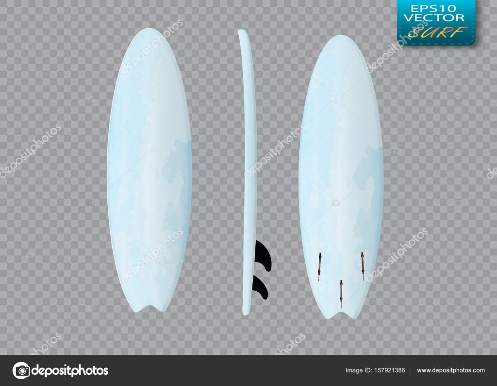 white vector surfing board template longboard ストックベクター