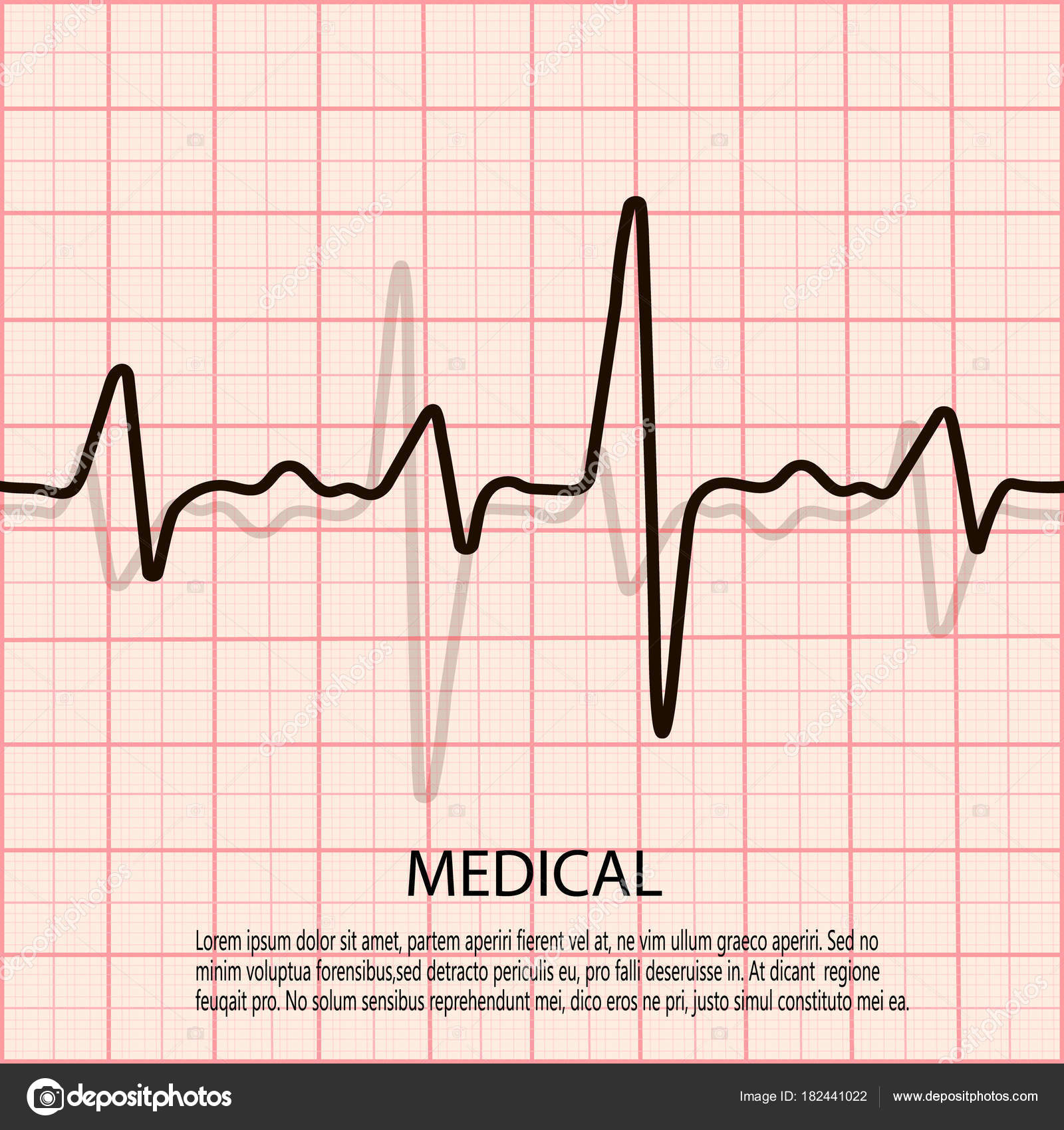 Cardiology concept with pulse rate diagram medical background with cardiology concept with pulse rate diagram medical background with heart cardiogram stock vector ccuart Image collections