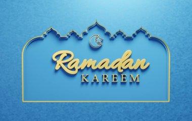 3 Dimensional cardboard cutout design for Ramadan with