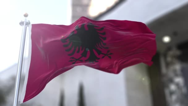 The flag of Albania (Albanian: flamuri i Shqipris) is a red flag with a silhouetted black double-headed eagle in the center. The red stands for bravery, strength and valor, while the double-headed eagle represents the sovereign state of Albania.