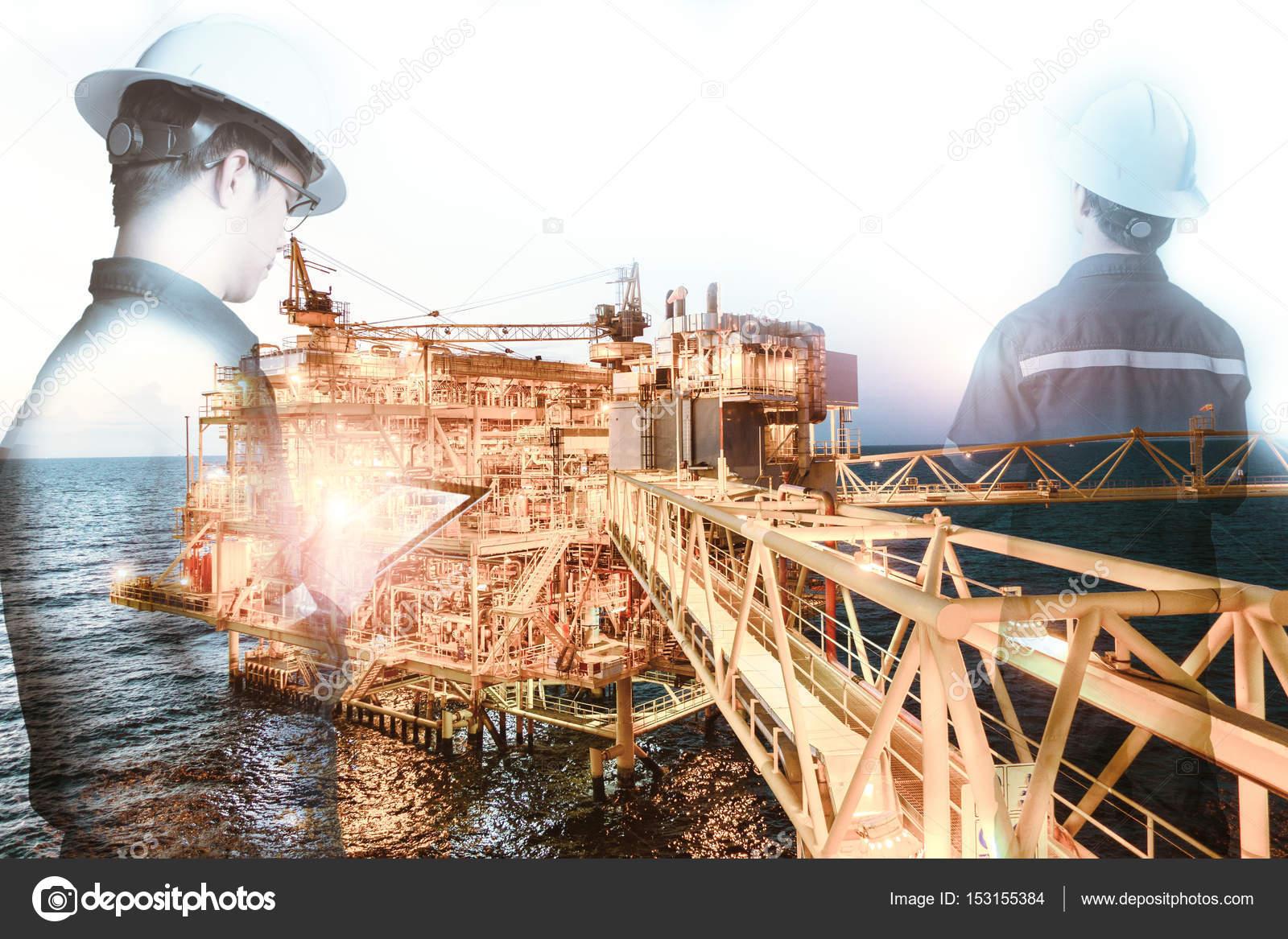 Offshore constructie platform voor productie olie en gas met b