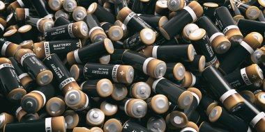 3d rendering batteries background