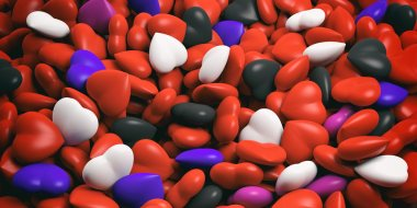 3d rendering hearts background