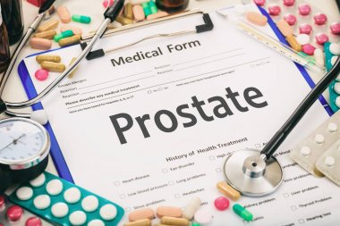 Medical form, diagnosis prostate