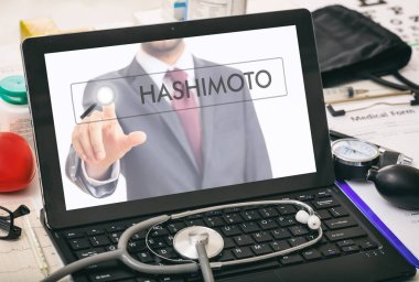 Hashimoto written on a computer's screen