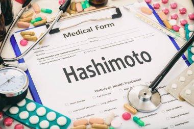 Medical form, diagnosis hashimoto thyroiditis