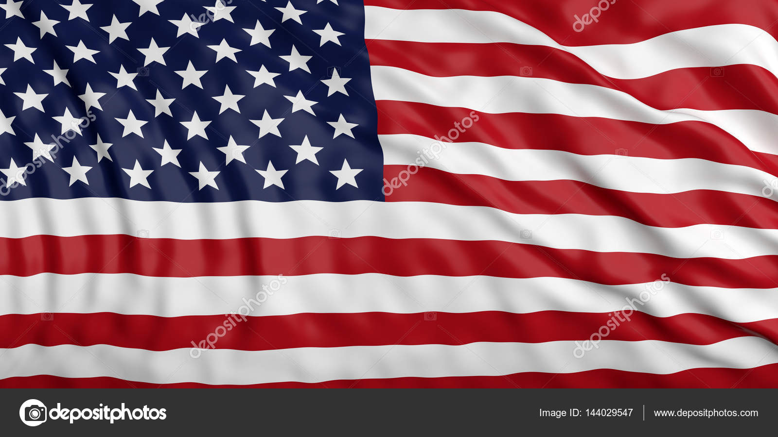 Renuncia la bandera de Estados Unidos. Ilustración 3D — Foto de ...