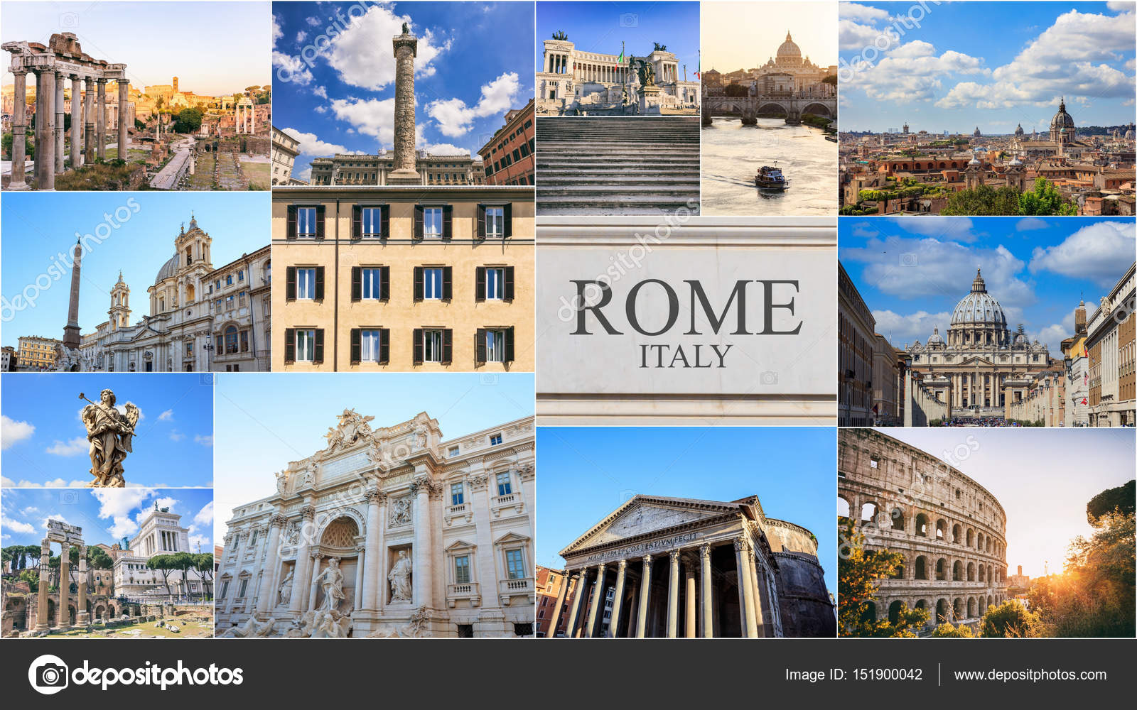 Free House Plans Rome Italy Photo Collage Stock Photo 169 Gioiak2 151900042