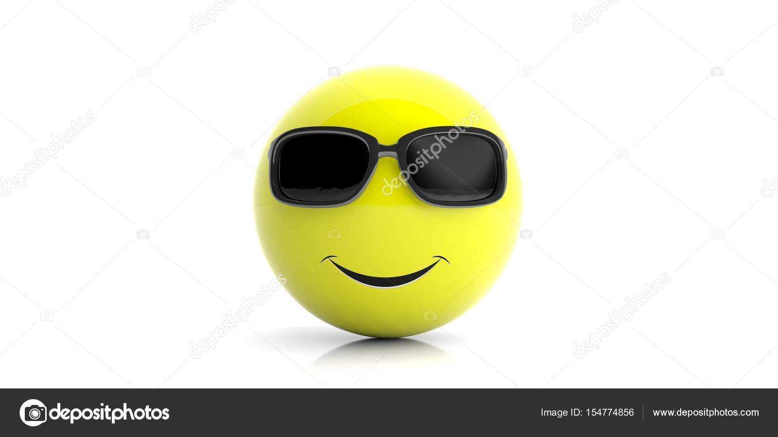 depositphotos 154774856 stock photo yellow smiling emoji with sunglasses
