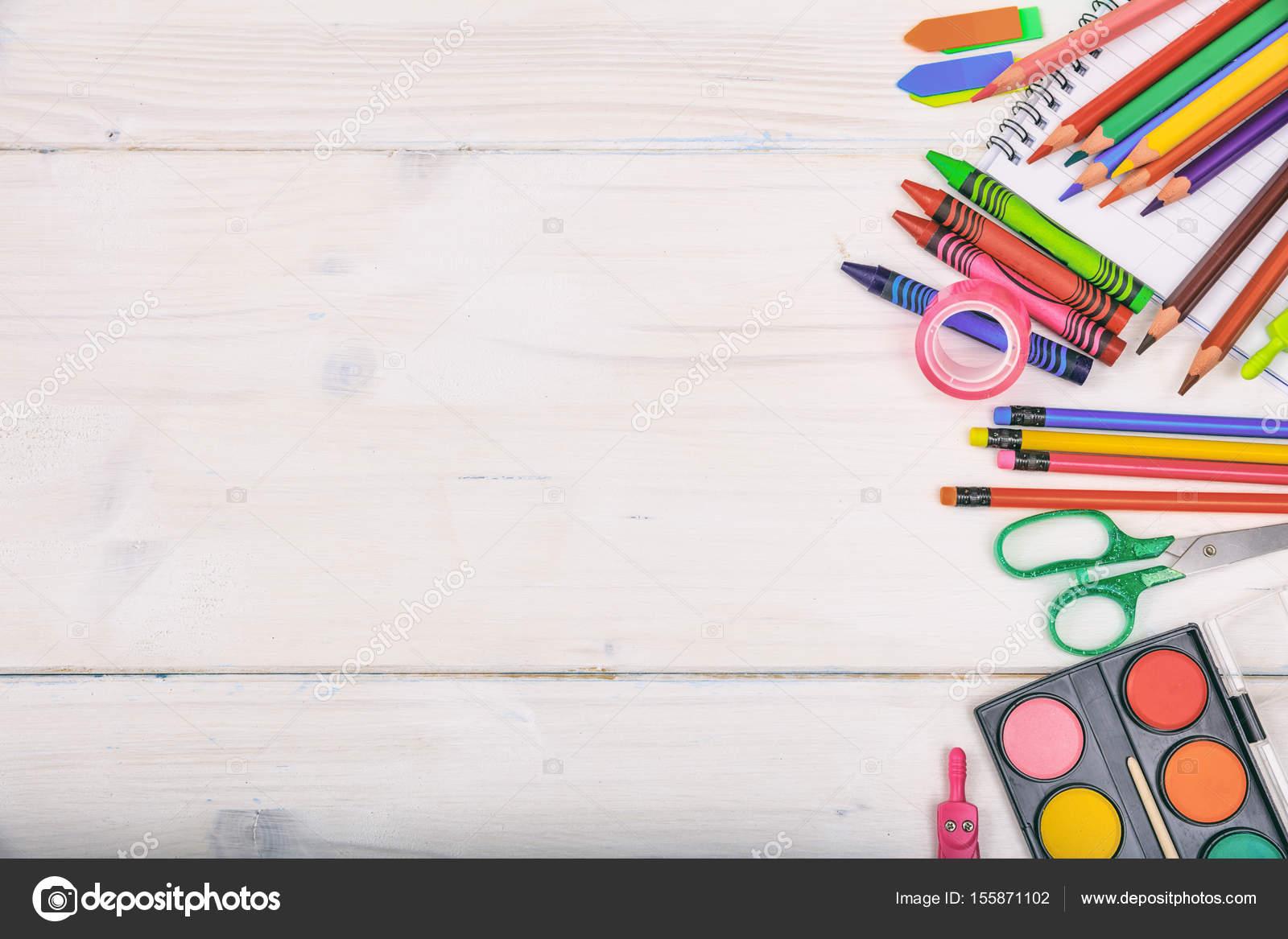 Imágenes Material Escolar Para Colorear útiles Escolares