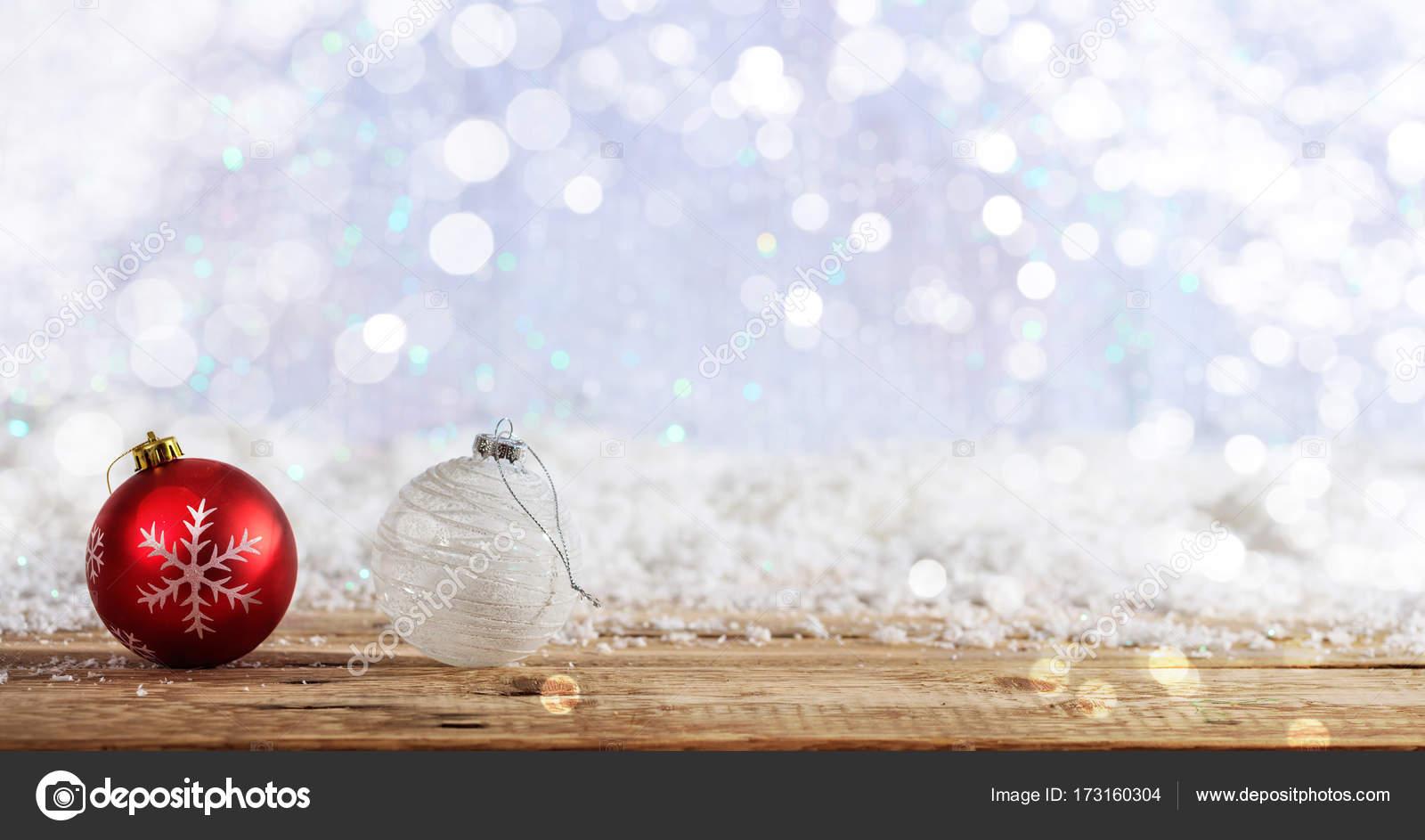 Fotos Escritorio De Navidad Bolas De Navidad En Un Fondo De