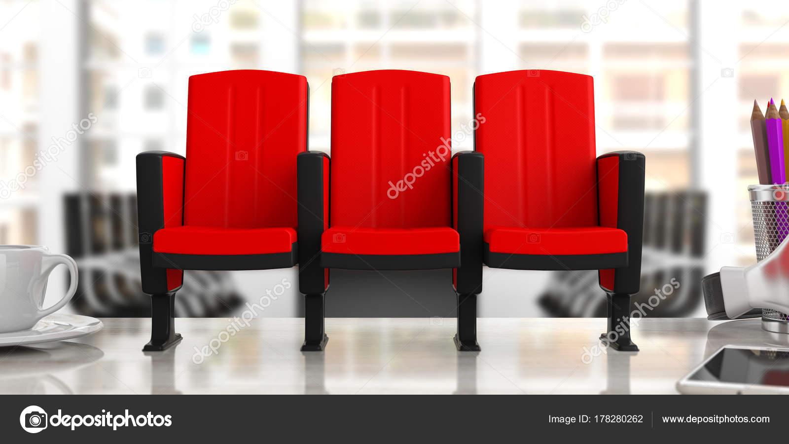 De Flou Sur Cinéma BureauVue Chaises Fond FaceIllustration 8wvOnmN0