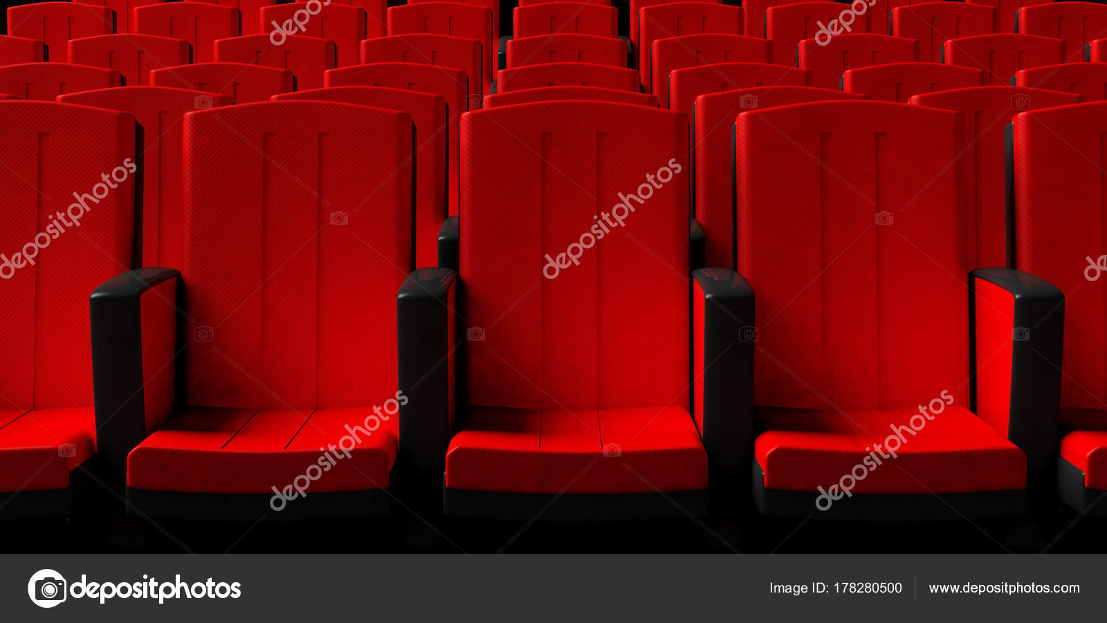 Picture of: Cinema Chairs Background Front View 3d Illustration Stock Photo C Gioiak2 178280500