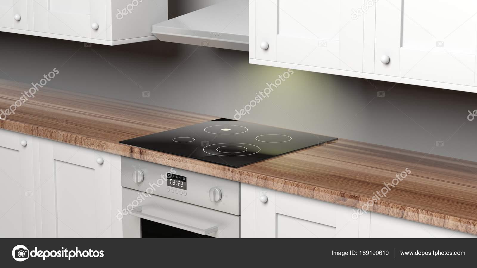 Mobili da cucina e forno elettrico con piano cottura in ...