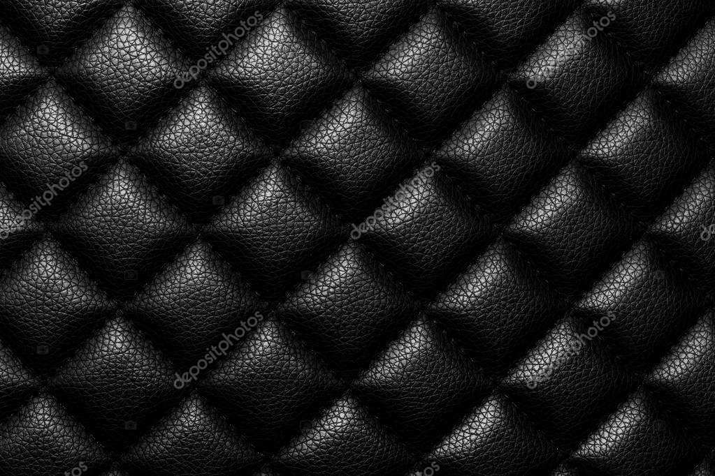 Muebles de lujoso cuero de tono negro textura — Foto de stock ...