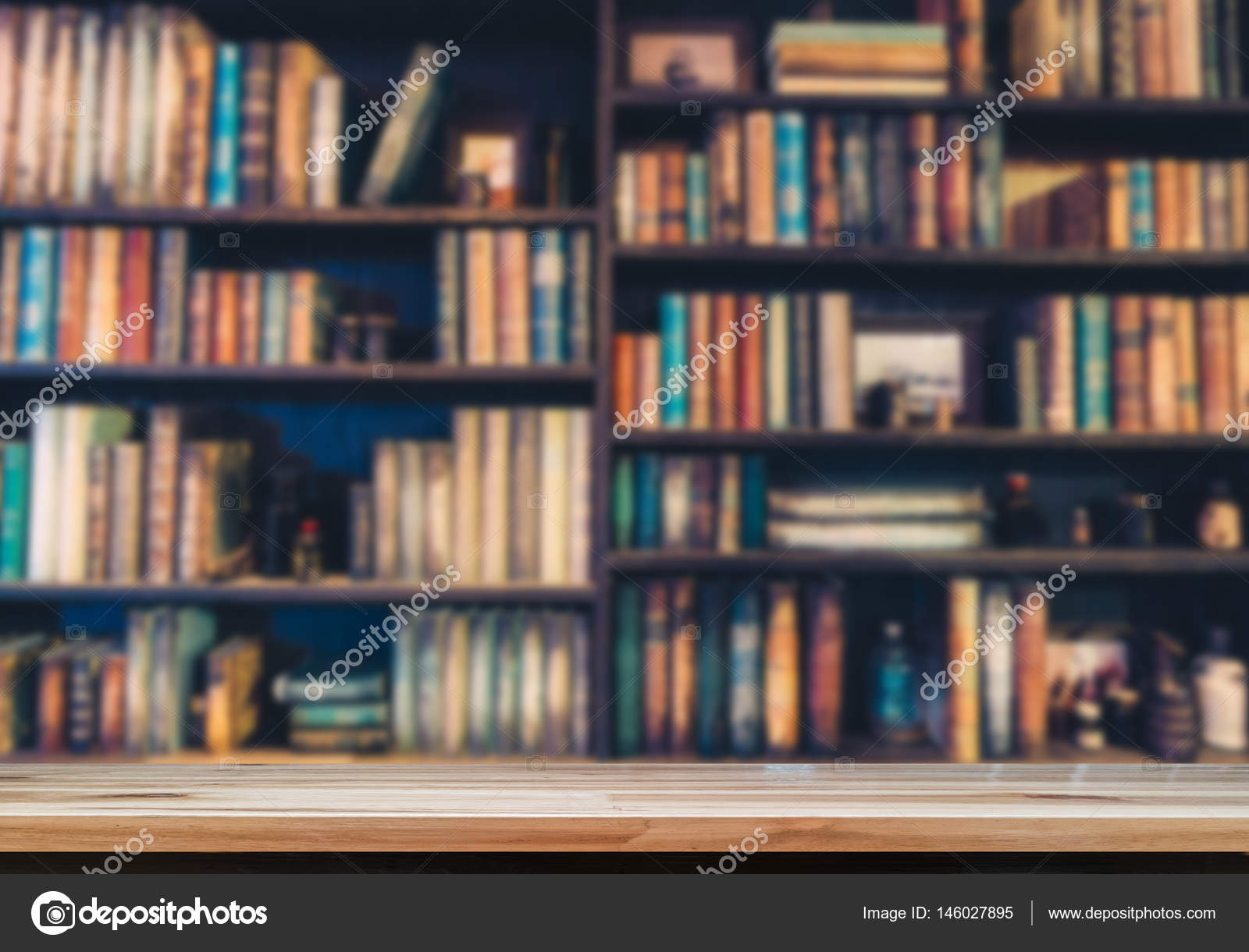 Blurred Image Many Old Books On Bookshelf In Library Photo By Escapejaja