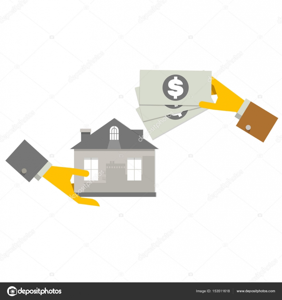 Property investment concept house and real estate money dollar symbols and design elements stock illustration property investment concept house and real estate money investment building placed next to coin biocorpaavc Image collections
