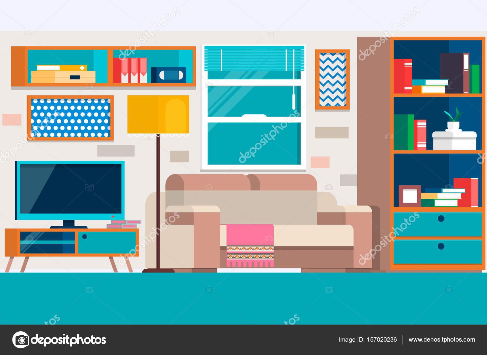Wohnzimmer Mit Mobeln Coole Grafik Wohnzimmer Interior Design Mit