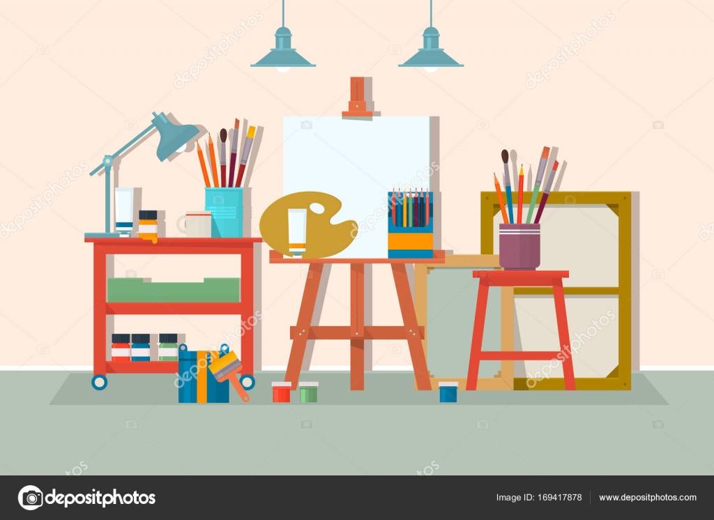 Kunst Zeichnung Design Studio Mobel Kreative Workshop Raum Mit