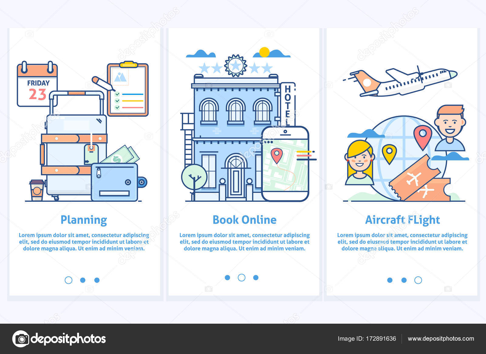 Travel web infographicWebsite illustration Plan your vacation – Travel Sites With Payment Plans