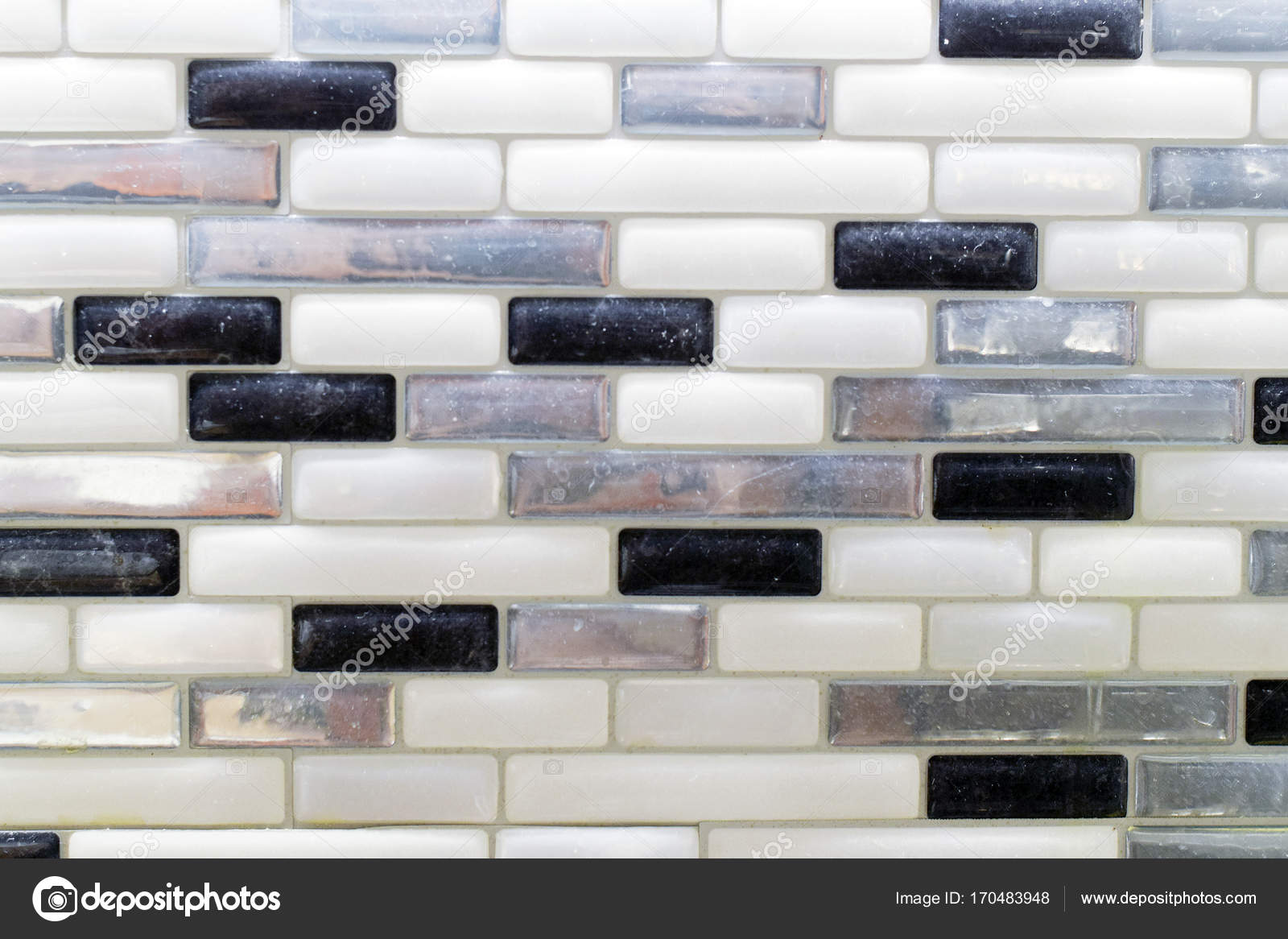 - Pictures : Glass Tile Backsplash In Kitchen Black White And Gray