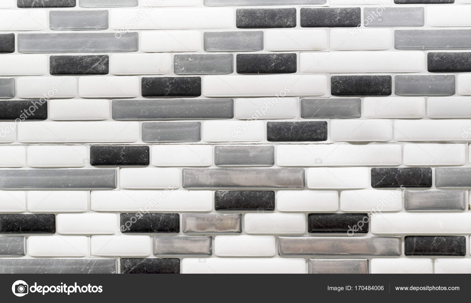 - Black White And Gray Glass Tile Backsplash — Stock Photo