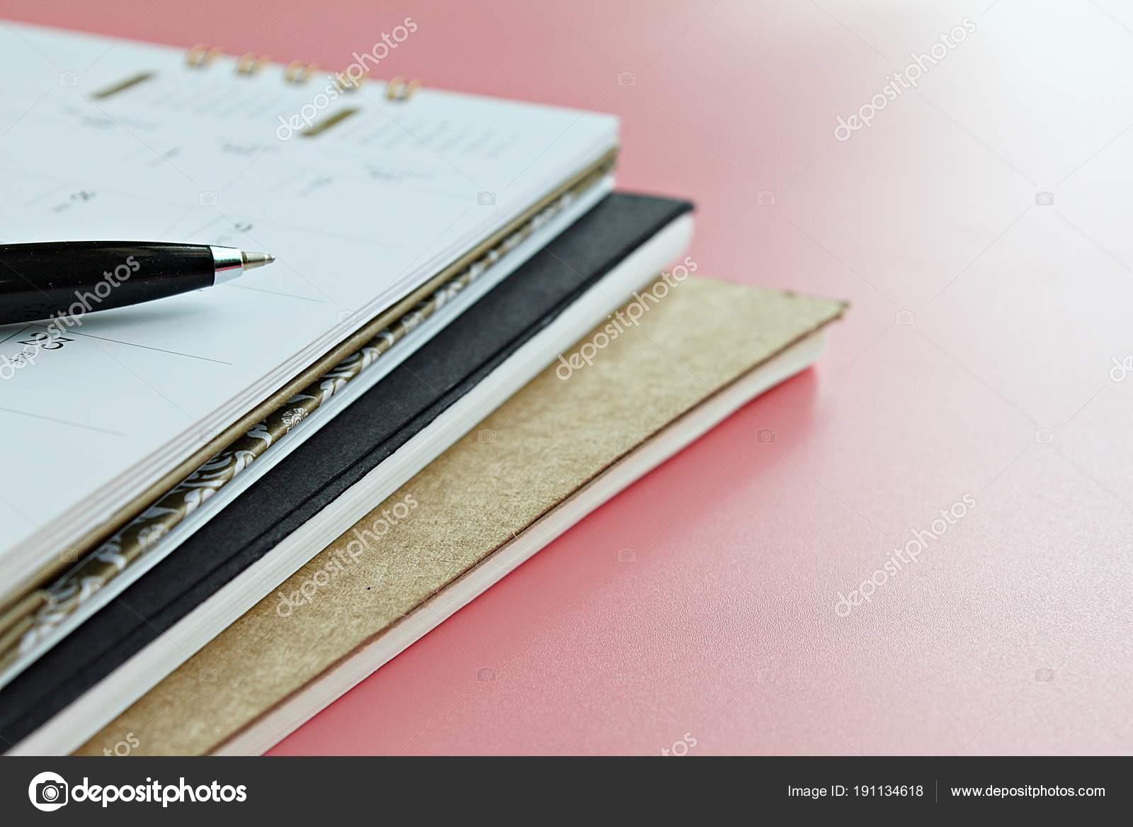 Negocios Fuentes Oficina Planificación Reunión Concepto Cuadernos ...