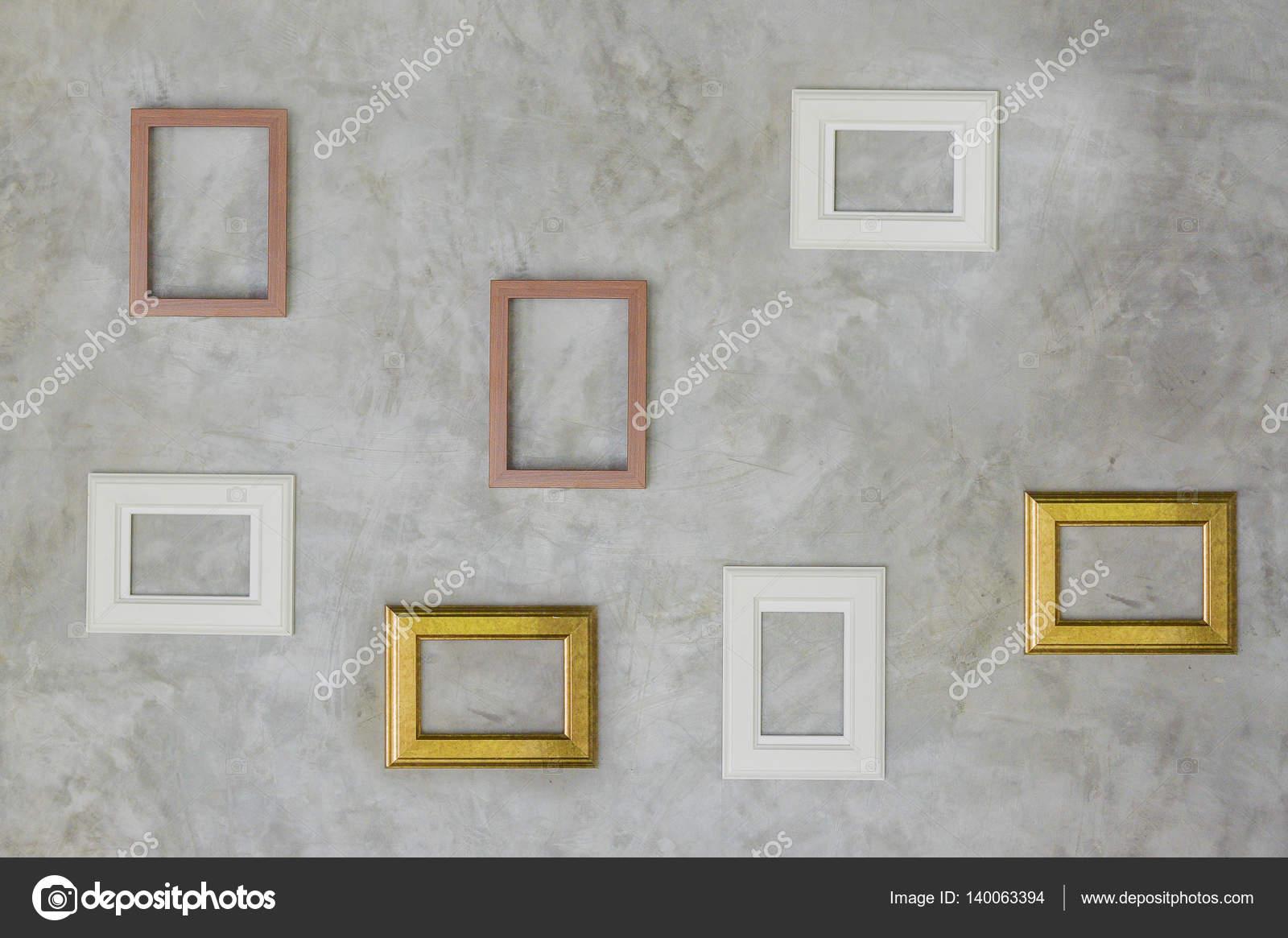 Leere Bilderrahmen an Wand — Stockfoto © jaengpeng #140063394