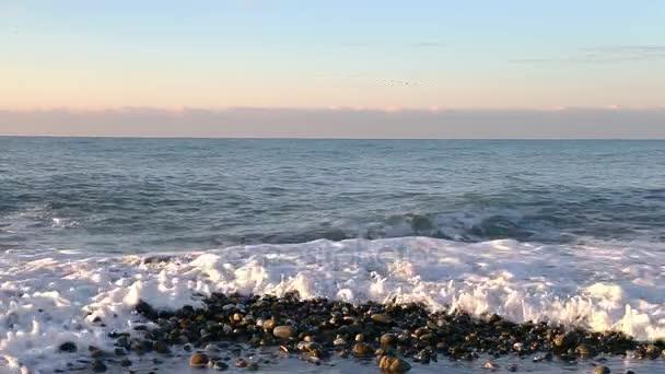 Sea wave přední pohled saeshore