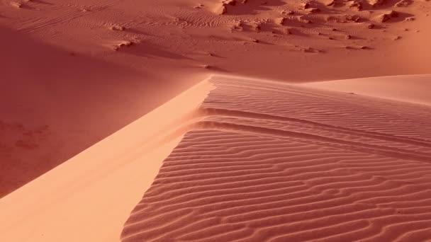 Vörös homok a Szahara sivatag közelről