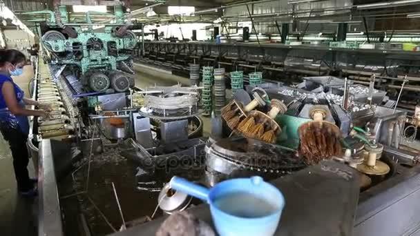 Silk Farm cocoon at reeling silk factory workshop