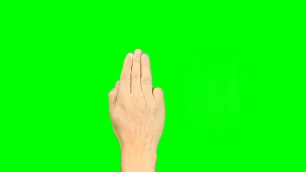 Minden gesztusok, 3-5 ujjaival. Készlet-ból ujjak 3-5 11 gesztus. A zöld képernyő