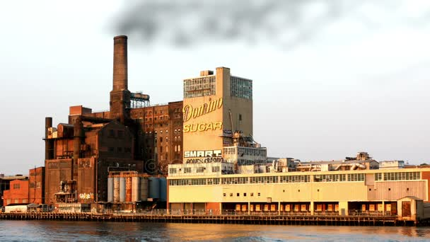New York, NY, United States - 20 June 2010. View from Hudson on Domino Sugar Refinery.