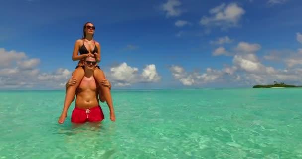 Mézeshetek pár pihenés és élvezi a nyári vakáció Maldív-szigetek.