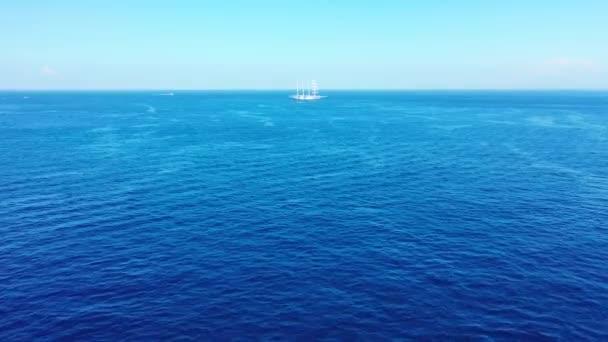 Pozadí Seascape s kopírovacím prostorem. Příroda scenérie Antigua.