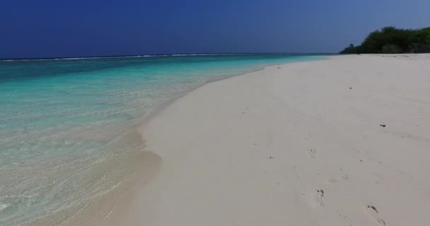 Virgin amazing beach with turquoise seascape at summer. Vacation of Bahamas, Caribbean.