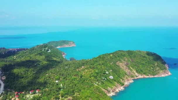 Amazing view of Koh Samui island with beautiful sky and clear turquoise water