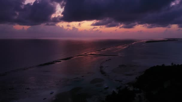 aerial view video of the amazing sunset on the sea, seascape