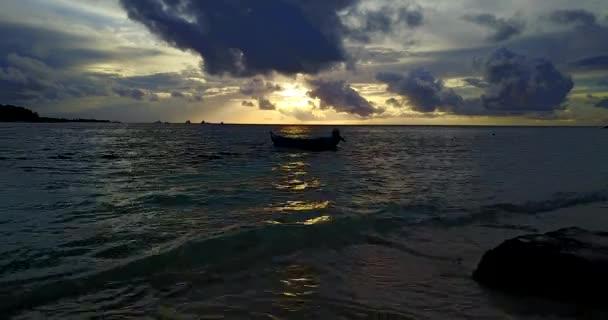 Sunset at the sea. Tropical nature scene of Jamaica, Caribbean.