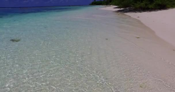 turquoise crystal ocean water near tropical island summertime paradise footage