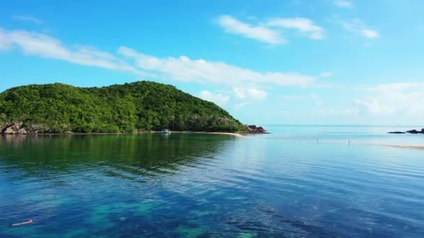 Island reflecting in sea water. Thailand scenery.